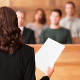 lawyer speaking to jury